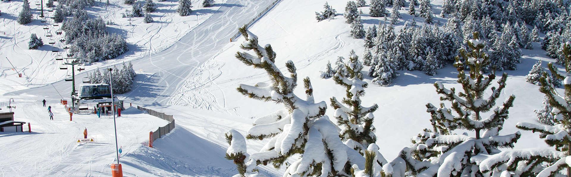 Escapade à la montagne avec forfait inclus, demi-pension et accès au spa