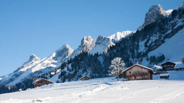 Semaine dans les Alpes en appartement pour 8 personnes, à la Clusaz
