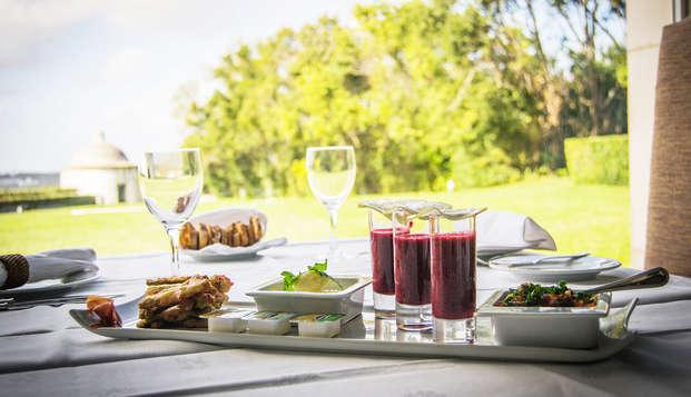 Escapada romántica con vistas al ocaso y cena típica regional en un histórico hotel del s.XVI