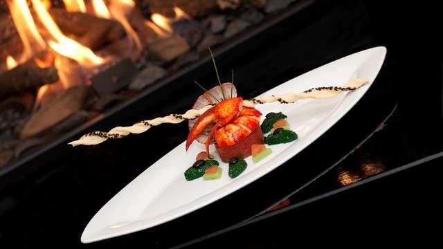 Romance et charme dans la suite du château, y compris un dîner 4 services
