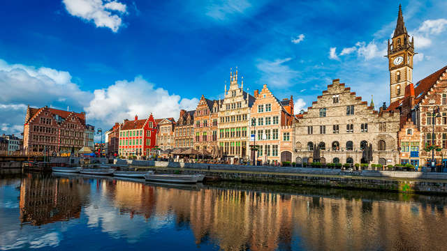 Scopri la bella città di Gand dall'acqua