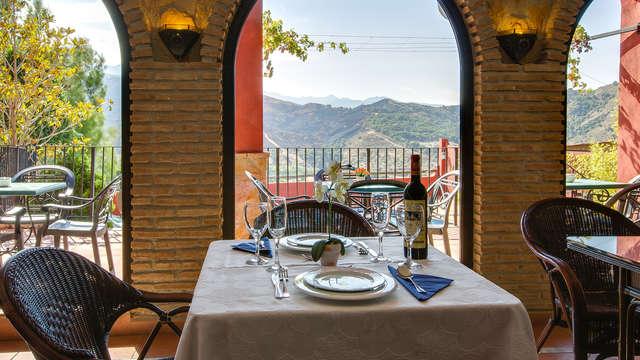 Escapada romántica: cena con increíbles vistas a Sierra Nevada