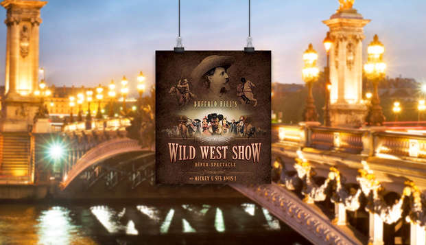 """Cena con el espectáculo de Disney """"La leyenda de Buffalo Bill"""" y estancia 4 estrellas cerca de París"""