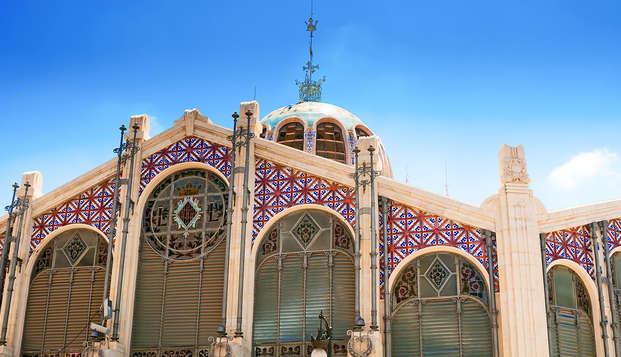 Chambre deluxe et visite guidée à Valence