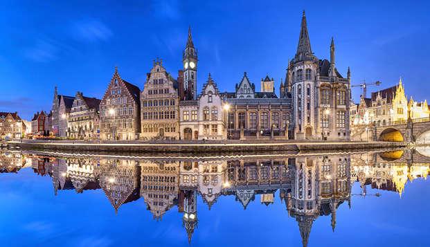 Ontbijt met cava in de historische stad Gent