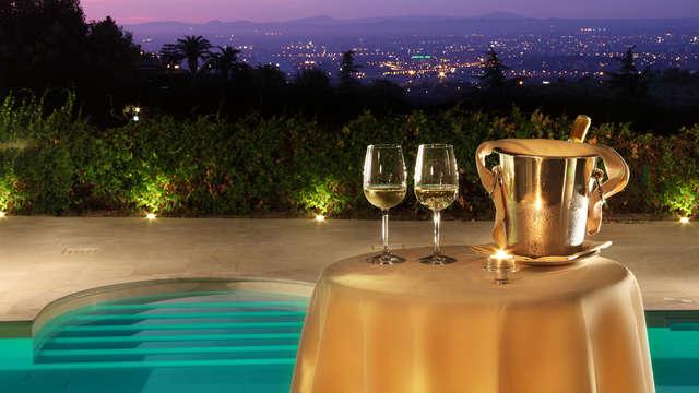Weekend romantico a Frascati con cena tradizionale in elegante hotel 4*