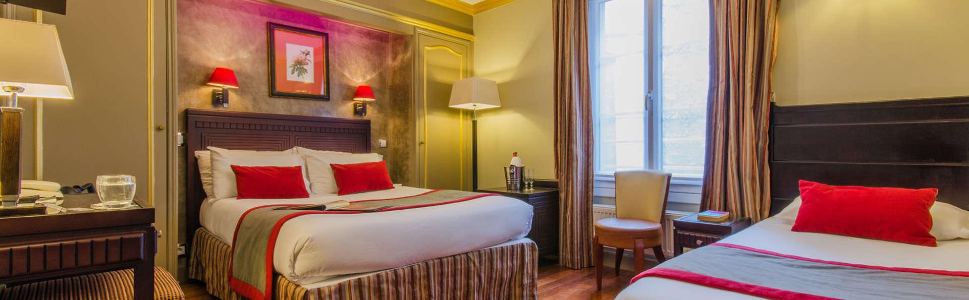 Ambiance cosy en chambre triple dans le 9e arrondissement de Paris