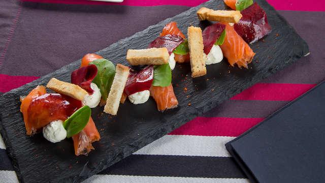 Cena gastronómica en Biarritz