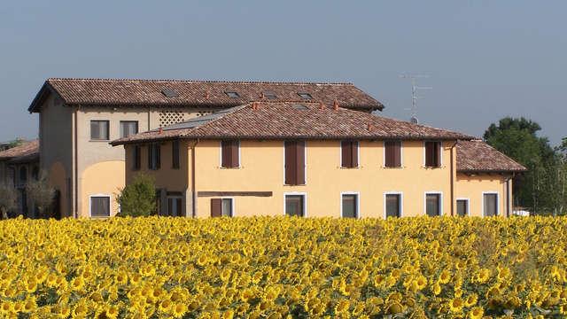 Una pausa di relax nella campagna emiliana vicino a Modena