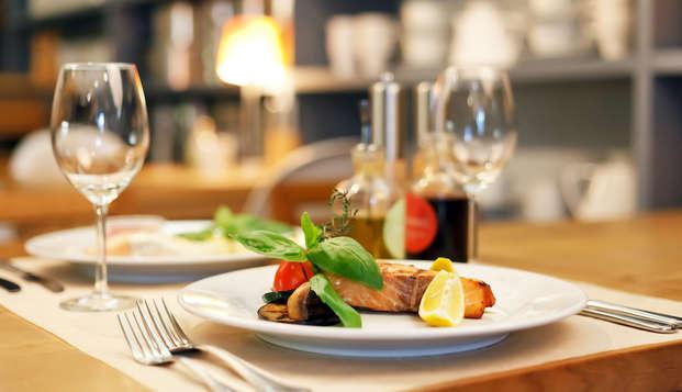 Un resort elegante con cena y en contacto con la naturaleza cerca de Módena