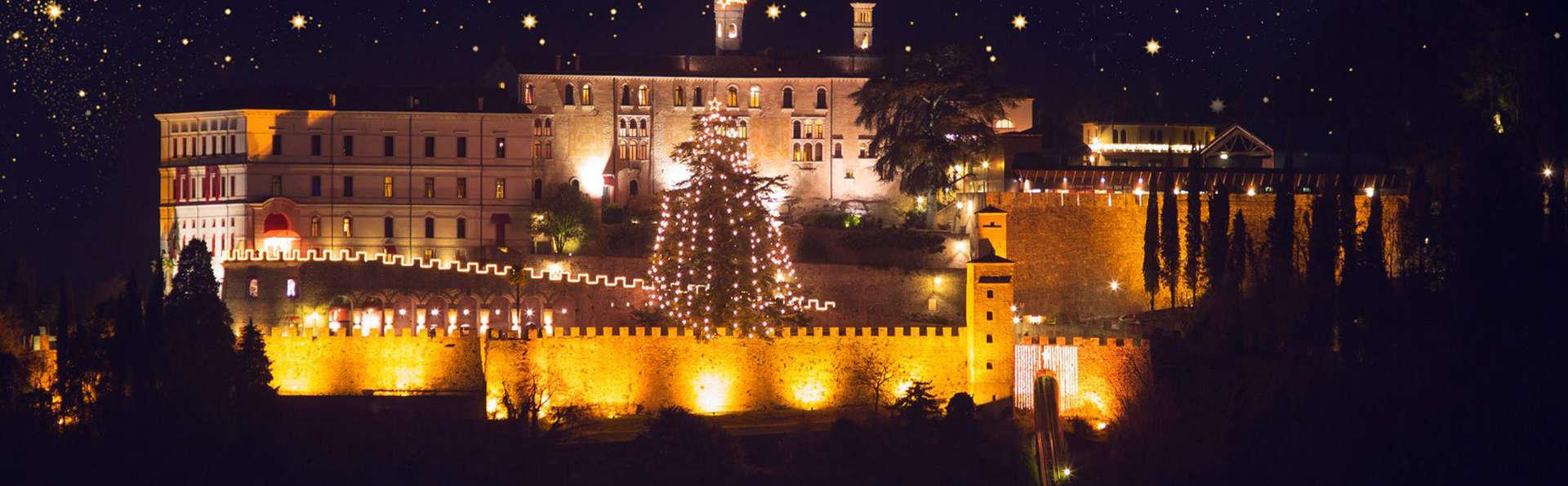 Sulle colline trevigiane in un elegante castello in Junior Suite con cena e accesso alla SPA