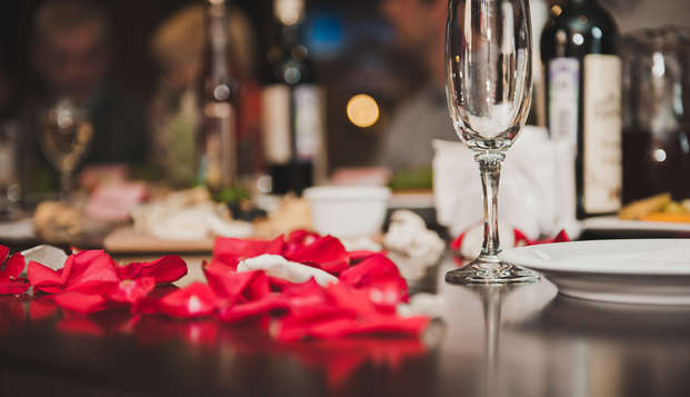 Romantisme autour d'un dîner et d'un modelage au Domaine de la Courbe