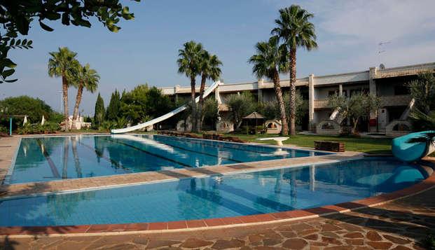 Excellent hôtel avec parc aquatique à deux pas de la mer près de Bari