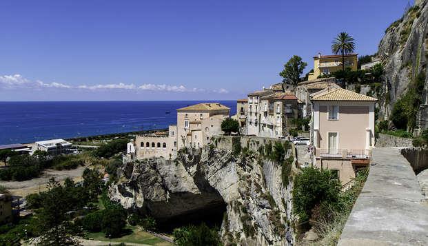 A orillas del mar en un hotel de 4 estrellas en Amantea
