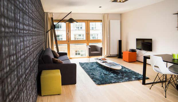 Descubre el centro de Bruselas alojándote en un amplio apartamento