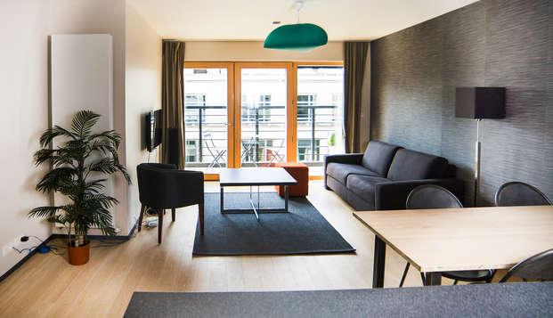 Experiencia inolvidable en Bruselas en un apartamento de lujo (hasta 4 personas)