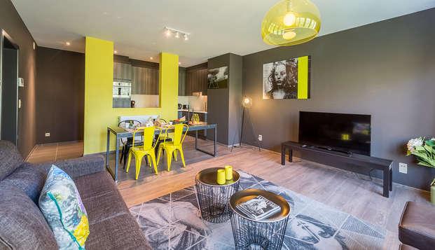 Descubre Bruselas y degusta la cerveza belga con alojamiento en un apartamento para hasta 4 personas