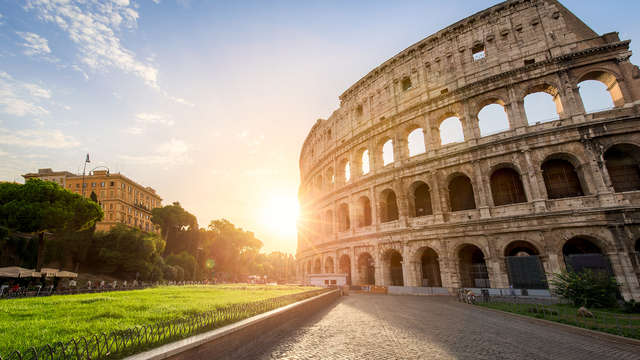 Encanto entre las fuentes de Roma