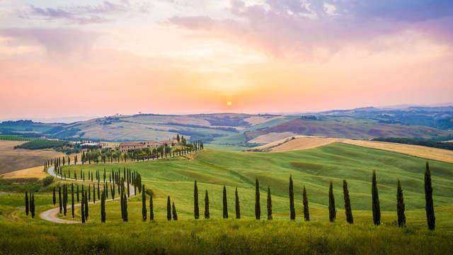 Dompel je onder in de mooie Toscaanse heuvels met een welkomstdrankje