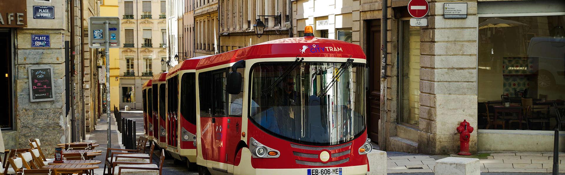 Découverte de la ville de Lyon en petit-train et nuit au calme dans un domaine arboré
