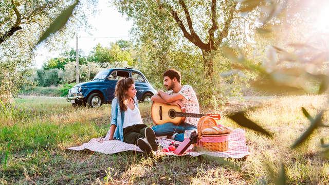 Escapada romántica en Castellón con cava y picnic