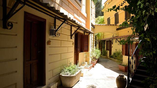 Détente dans un jardin au cœur de Rome