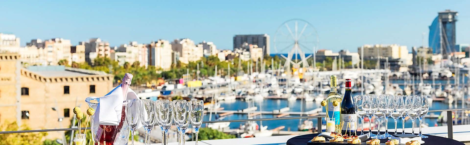 Panorama imprenable sur l'une des plus belles terrasses de Barcelone avec cocktail