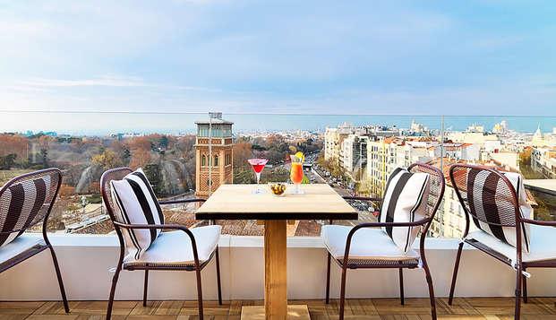 Escapada romántica con bombones y cava con unas vistas espectaculares al corazón de Madrid