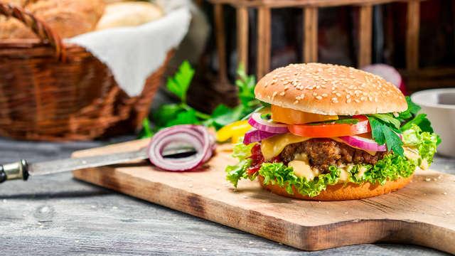 Cena de la auténtica ''Hamburguesa de Ternera Navarra'' y visita a Quesería con oferta en 2 noches