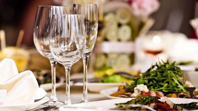 cena gastronómica 3 platos para 2 adultos