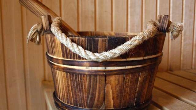 acceso a la sauna