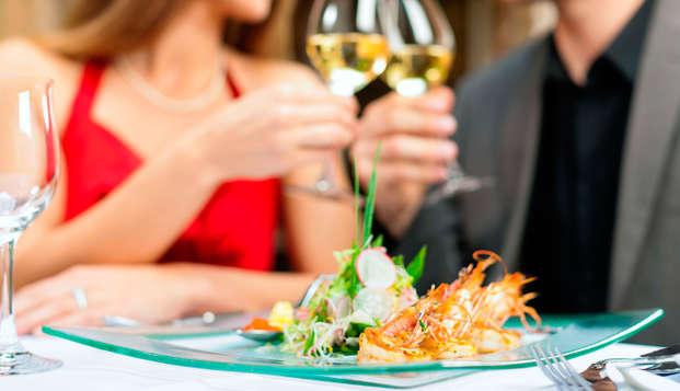 Placer Termal en Pareja con circuito termal y cena romántica delante del Mediterráneo