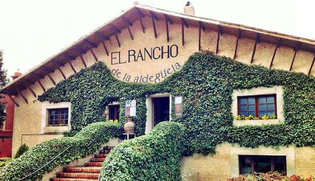 Gastronomía típica de Segovia en un precioso Rancho con piscina y vistas en Torrecaballeros