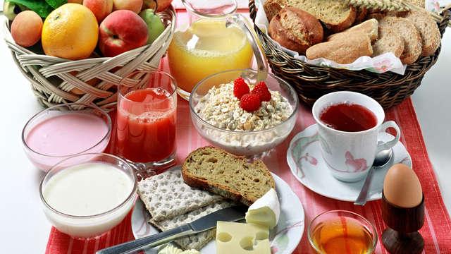 Petit déjeuner sous forme de buffet