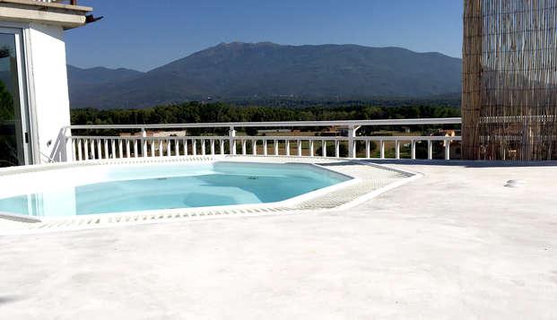 Romanticismo e relax per adulti con idromassaggio, spa Ofuro e 2 vasche idromassaggio esterne