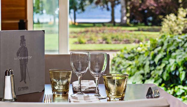 Week-end avec dîner et accès spa offert, au bord du lac d'Annecy