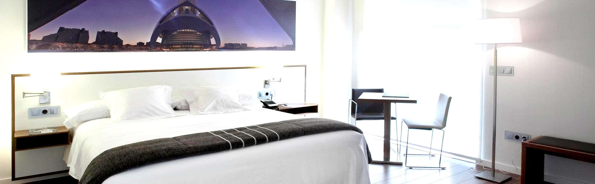 Escapade en chambre supérieure à Valence dans un hôtel d'avant-garde