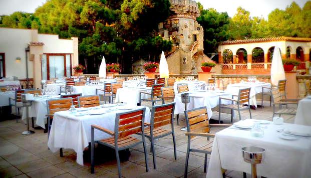 Escapada romántica con cena y Aquatonic en Montbrió del Camp