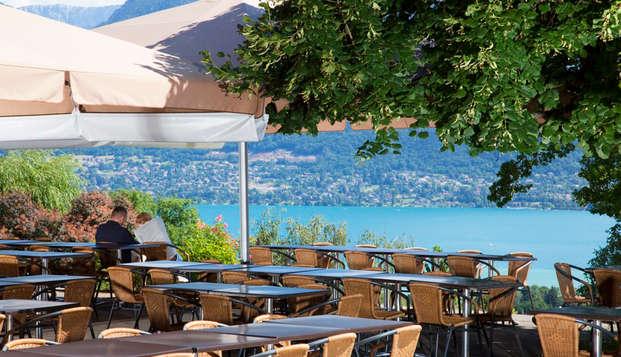 Week-end avec vue imprenable au bord du lac d'Annecy (à partir de 2 nuits)