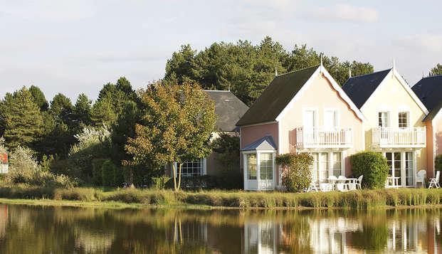 Vakantie in een huisje in een ecodorp in de baai van de Somme
