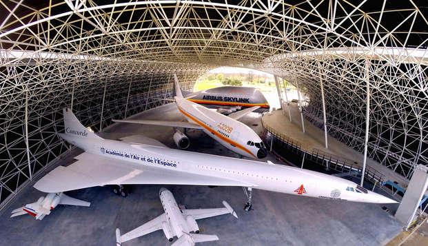 Escapada descubrimiento con entradas al museo Aéroscopia cerca de Toulouse