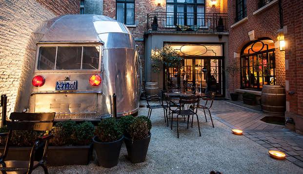 Glamour camping in het hartje van Brussel