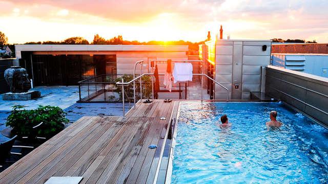 Kom tot rust in de wellness en verblijf in een schitterend hotel in Maaseik