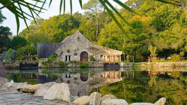 Pause gourmande et bien-être avec dîner, accès au spa et modelage près de Concarneau