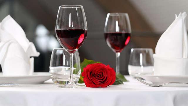 Escapada romántica con vino y bombones cerca de Madrid