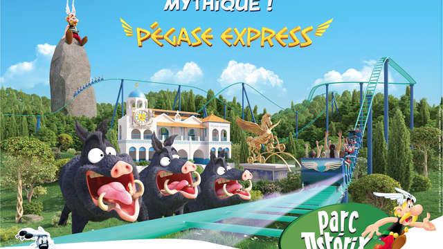 Aventurez-vous au Parc Astérix en famille et offrez-vous un dîner-buffet à l'hôtel !