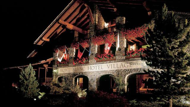 Soggiorno di lusso in hotel 5* a pochi minuti dal centro di Courmayeur!