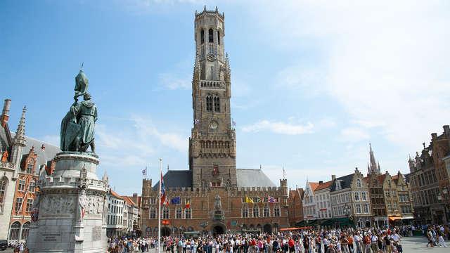 Passez la nuit dans la belle ville historique de Bruges