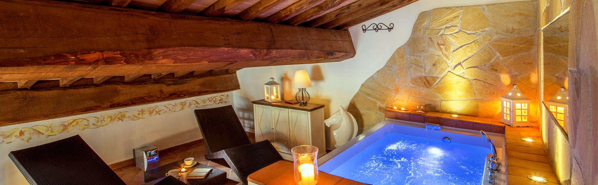 Week-end en Toscane, avec baignoire à hydromassage en chambre et champagne à l'arrivée !