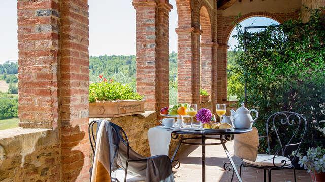 Entre el valle de Chiana y el valle de Orcia en una residencia de época